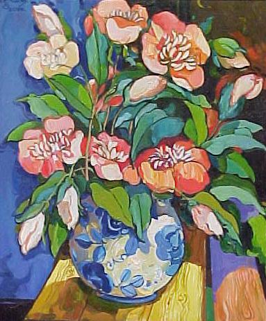 """""""Orange Japanese Flowers"""" by Alush Shima"""